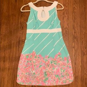 Lilly Pulitzer Floral and Stripped Dress